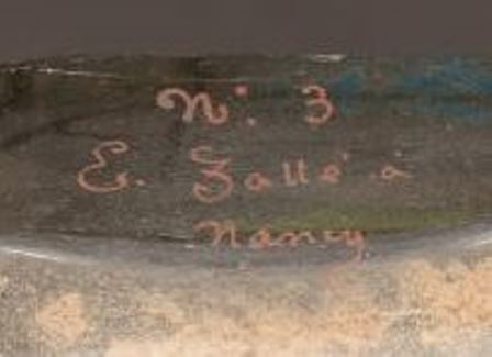 Gilt Handwritten Galle Signature
