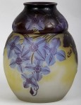 Galle Vase with Clematis Design