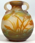 Galle Vase with Dragonflies Design