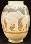 Galle Vase with Elephants Design