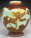 Galle Vase with Lotus Design