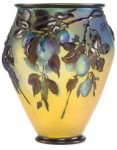Galle Vase with Plums Design
