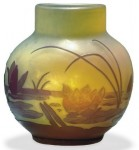 Galle Vase with Pond Lilies Design